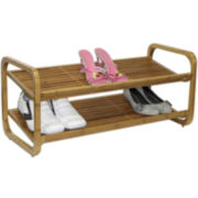 Oceanstar® 2-Tier Bamboo Shoe Rack