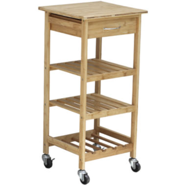 jcpenney.com | Oceanstar® Bamboo Kitchen Trolley