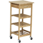 Oceanstar® Bamboo Kitchen Trolley