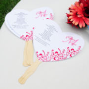 Cathy's Concepts DIY Heart Fan Program Paper Kit