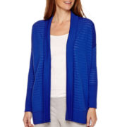 Liz Claiborne® Weekend Long-Sleeve Striped Cardigan