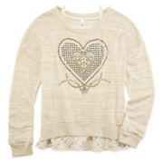 Knit Works Cami and Embellished Sweatshirt - Girls 7-16 and Plus