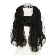 Mixit™ Sequin Ruffled Oblong Scarf