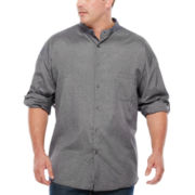 D'Amante Long-Sleeve Banded-Collar Shirt - Big & Tall