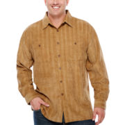 D'Amante Long-Sleeve Poly Corduroy Shirt - Big & Tall