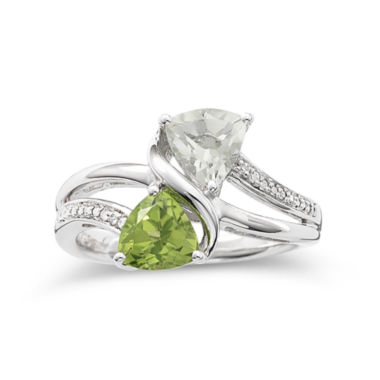 jcpenney.com | Trillion Peridot & Green Amethyst Ring
