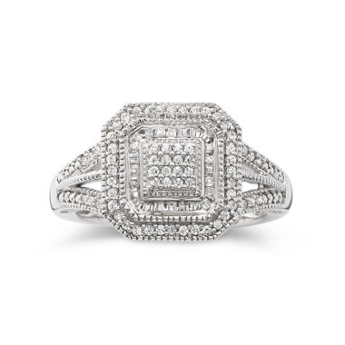 jcpenney.com | 1/3 CT. T.W. Diamond Vintage Frame Ring