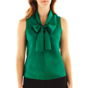 9 & Co.® Charmeuse Bow-Collar Blouse