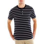 St. John's Bay® Striped Slub Henley