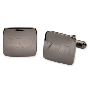 jcpenney.com | Personalized Gunmetal Rounded Rectangle Cuff Links
