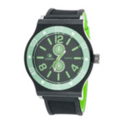 Zunammy® Mens Black Silicone Strap Sport Watch