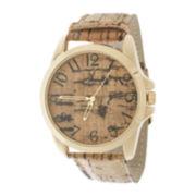 Zunammy® Mens Brown Leather Strap Sport Watch