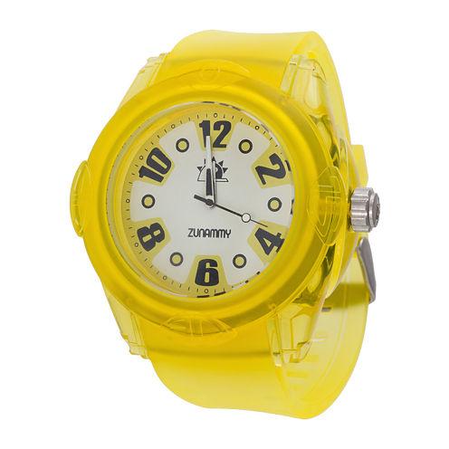 Zunammy® Mens Yellow Strap Sport Watch