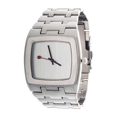 Zunammy® Mens Silver-Tone Strap Watch