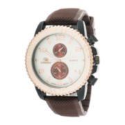 Zunammy® Mens Brown Silicone Strap Sport Watch