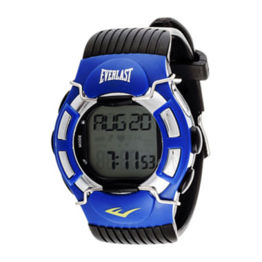 jcpenney.com | Everlast® Mens Heart Rate Monitor Black Silicone Strap Sport Watch