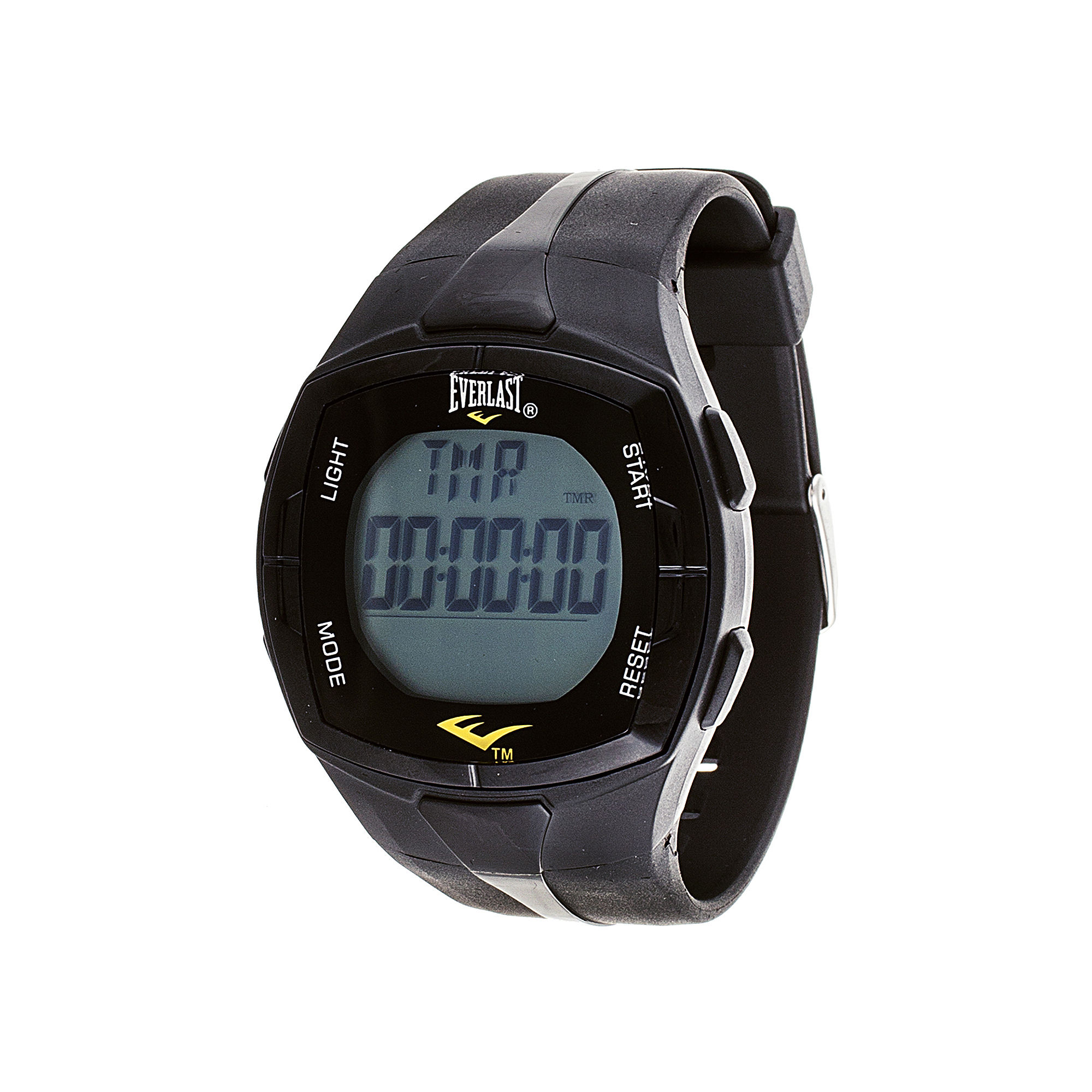Everlast Mens Heart Rate Monitor Black Silicone Strap Sport Watch