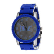 Everlast® Mens Blue Silicone Strap Sport Watch