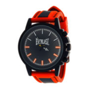 Everlast® Mens Red/Black Silicone Strap Sport Watch
