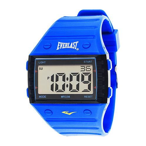 Everlast® Blue Silicone Strap Digital Sport Watch