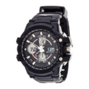 Everlast® Mens Black Strap Analog/Digital Sport Watch