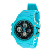 Everlast® Womens Blue Strap Analog/Digital Sport Watch