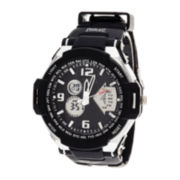 Everlast® Mens Black Silicone Strap Sport Watch
