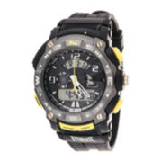 Everlast® Mens Black Silicone Strap Analog/Digital Sport Watch
