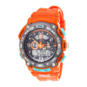 Everlast® Orange Silicone Strap Analog/Digital Sport Watch