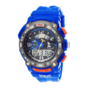 Everlast® Mens Blue Silicone Strap Analog/Digital Sport Watch