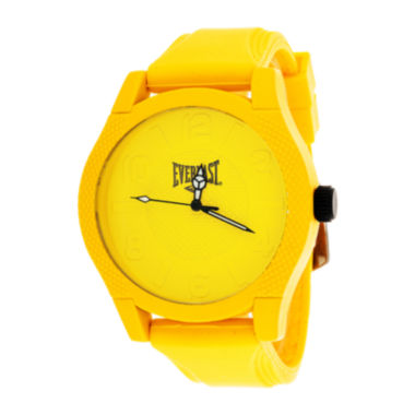 jcpenney.com | Everlast® Mens Yellow Silicone Strap Sport Watch