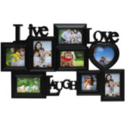 Live Love Laugh 8-Opening Collage Picture Frame