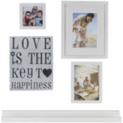 Love is the Key to Happiness 5-pc. Picture Frame Set