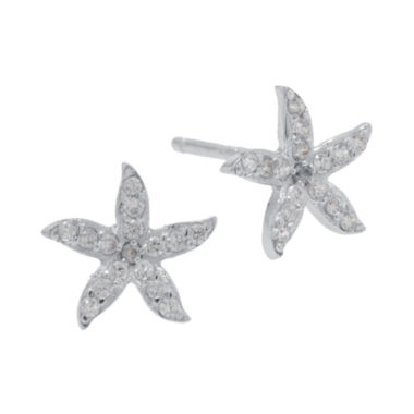 jcpenney.com | Sterling Silver Cubic Zirconia Starfish Earrings