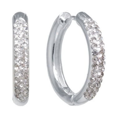jcpenney.com | Sparkle Allure White Crystal Hoop Earrings