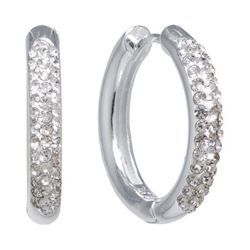 Sparkle Allure White Crystal Hoop Earrings