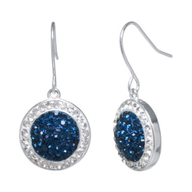 jcpenney.com | Silver-Plated Blue Crystal Drop Earrings