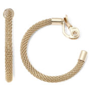 Monet® Gold-Tone Clip-On Hoop Earrings