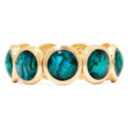 Monet® Gold-Tone Abalone Shell Stretch Bracelet