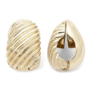Monet® Gold-Tone Swirled Clip-On Earrings