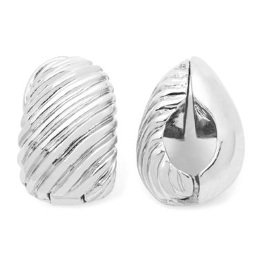 jcpenney.com | Monet® Silver-Tone Swirled Clip-On Earrings