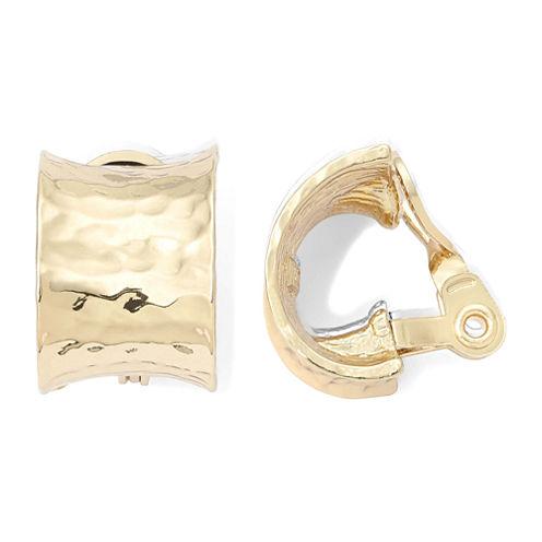 Monet® Gold-Tone J-Hoop Clip-On Earrings