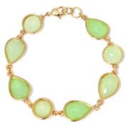 Liz Claiborne® Green Stone Flex Bracelet
