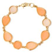 Liz Claiborne® Pink Stone Flex Bracelet