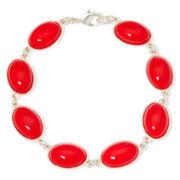 Liz Claiborne® Red Stone Flex Bracelet
