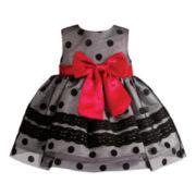 Kahn Lucas Sleeveless Dot Dress - Girls 3-24m