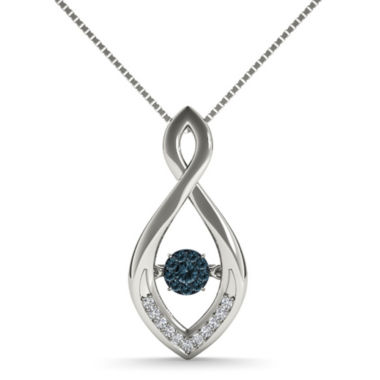 jcpenney.com | Love in Motion™ 1/10 CT. T.W. White and Color-Enhanced Blue Diamond Pendant