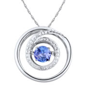 Love in Motion™ Diamond-Accent Purple Tanzanite Sterling Silver Necklace