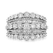 1 CT. T.W. Diamond 10K White Gold Anniversary Ring