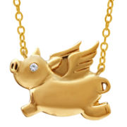 ASPCA® Tender Voices™ Diamond-Accent Flying Pig Necklace